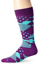 Happy Socks Men's Multi Argyle Combed Cotton Crew Socks
