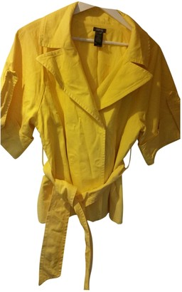 Kenneth Cole Yellow Cotton Jacket for Women