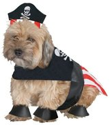"Fun World Costumes PIRATE DOG - Sm Length 10-14"""