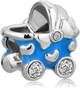 LilyJewelry Blue Baby Stroller Carriage Charm Beads For Bracelets