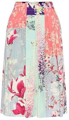 Etro Floral cotton skirt