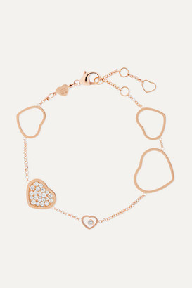 Chopard Happy Hearts 18-karat Rose Gold Diamond Bracelet