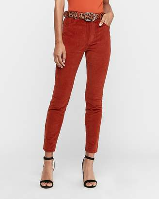 Express High Waisted Corduroy Ankle Leggings