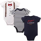 Hudson Baby Navy Tuxedo Three-Piece Bodysuit Set - Infant