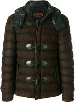 Tod's toggle detail padded jacket