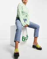 Thumbnail for your product : Monki Taiki organic cotton high waist mom jeans in light blue