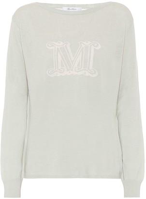 Max Mara Salice intarsia silk-blend sweater