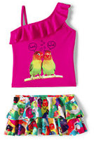 Classic Little Girls Skirted Tankini Swimsuit Set-Pool Party