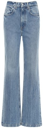 Alexander Wang High Waist Wide Leg Cotton Denim Jeans