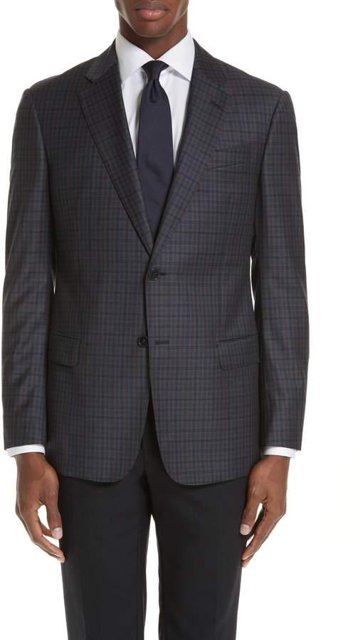 Emporio Armani G-Line Trim Fit Check Wool Sport Coat
