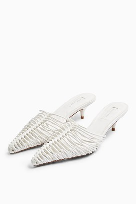 Topshop JUMP White Point Strap Shoes