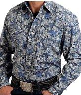 Stetson Western Shirt Mens Paisley L/S 11-001-0425-0775 BU