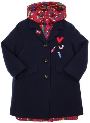 Dolce & Gabbana Wool Coat & Nylon Down Jacket