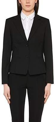 Marc Cain Essentials Women's + +E 34.19 W50 Blazer, Schwarz (Black 900), 42 (Herstellergröße: 5)