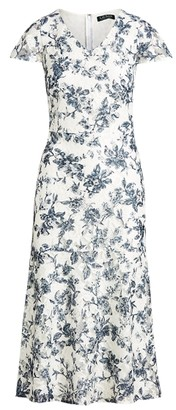 Ralph Lauren Floral Lace V-Neck Dress