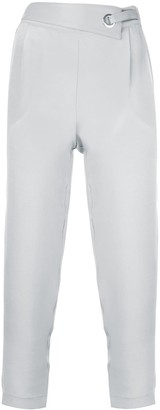 Max & Moi Eyelet Detail Cropped Trousers