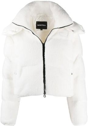 Duvetica Faux-Shearling Puffer Jacket