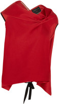 Roland Mouret Eugene Draped Satin Top - Red