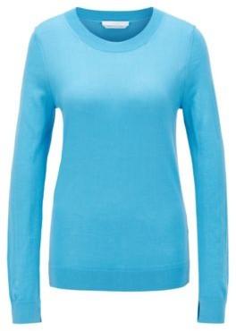 BOSS Regular-fit sweater in merino wool with crew neckline