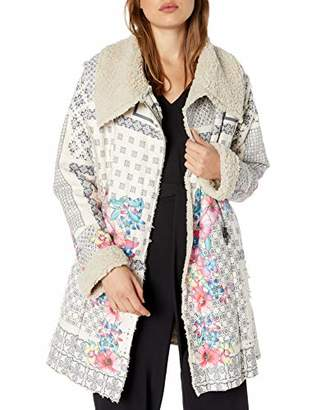 Pete & Greta by Johnny Was Women's Floral Pattern Sherpa Lined Coat