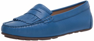Driver Club Usa Women's Leather Made in Brazil Kilt Detail Driver Moc Loafer