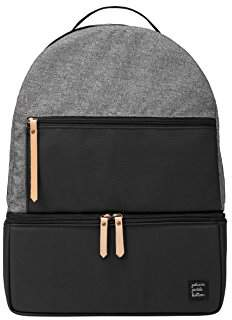 Petunia Pickle Bottom Axis Backpack Baby Changing Bag with Change Mat and Wipes Case - Graphite/Black