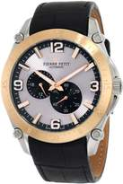Pierre Petit Men's P-804B Serie Le Mans Automatic Rose-Gold PVD Genuine Leather Watch