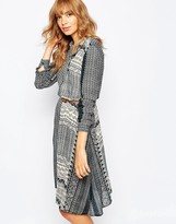 Vila Mixed Print Shirt Dress