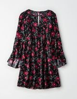 American Eagle Outfitters AE Swingy Floral Bell-Sleeve Dress