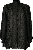 Zimmermann polka dot pleat shirt