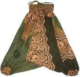 Lofbaz Girls Harem Aladdin Rose Flower Child Pants Bohemian Baggy White Size 6-7Y