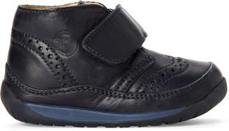 Falcotto (Toddler Boys) Navy Brogue Leather Chukka Boots