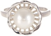 Splendid Pearls Flower Shaped 8-9mm Cultured Freshwater Pearl Ring