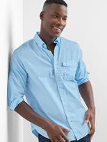True wash poplin standard fit shirt