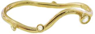 N+A New York Diamond and Gold Thin Stacking Ring - Confetti Collection