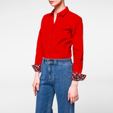 Paul Smith Women's Red Cotton Shirt With 'Wild Floral' Cuff Linings