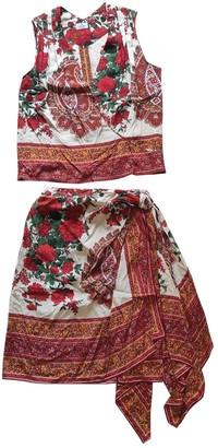 Valentino Red Silk Jumpsuits