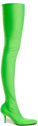 Balenciaga Over-the-knee Sock Boots - Womens - Green
