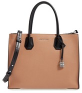 MICHAEL Michael Kors Large Mercer Colorblock Leather Tote - Brown