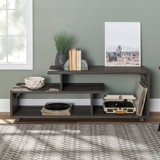 Middlebrook Designs Asymmetrical 60-inch Solid Wood TV Stand Console