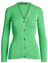 CollectionRalph Lauren Rib-Knit Silk Cardigan