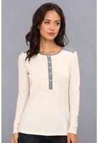 C&C California Triblend Mix L/S Henley Women's Long Sleeve Pullover