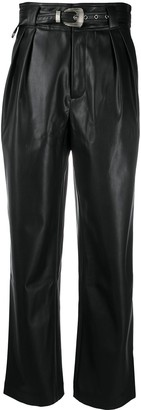 Simon Miller Belted Faux Leather Trousers