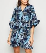 New Look AX Paris Tropical Wrap Dress