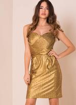 Missy Empire Lulu Gold Metallic Bandeau Mini Dress