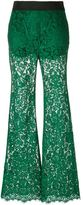 Dolce & Gabbana flared lace trousers - women - Cotton/Viscose/Nylon/Spandex/Elastane - 42