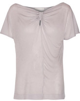 Kain Label Ella Tie-Front Modal And Silk-Blend Top