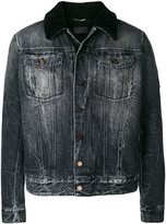 Saint Laurent sheepskin collar denim jacket