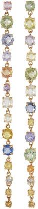 Xiao Wang 'Galaxy' diamond sapphire earrings