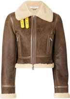 Givenchy shearling biker jacket - women - Lamb Skin - 38